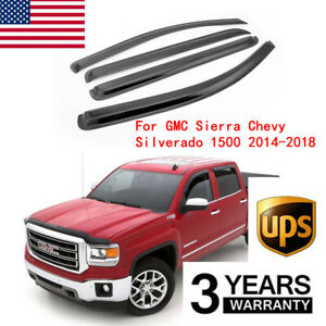For CHEVY Silverado 1500 Crew Cab 2007-2012 2013 4PC Windows Visors Guards Shade