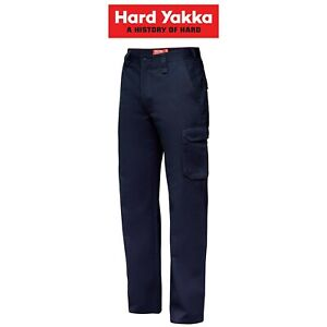 Mens-Hard-Yakka-Cargo-Pants-Gen-Y-Cotton-Drill-Work-Tough-Heavy-Duty-Y02500