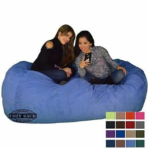 Image is loading Bean-Bag-Chair-7-039-Foot-Cozy-Bean-  sc 1 st  eBay & Bean Bag Chair 7u0027 Foot Cozy Bean Bag 7u0027x40