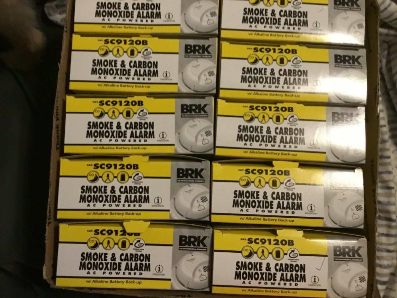 First Alert BRK SC9120B (10 Pack) Detector de humo y monóxido de carbono con respaldo Batt