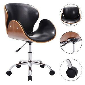 Bentwood Office Chair Mid-Back Adjustable Swivel Desk Task Computer Executive