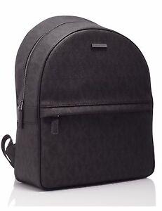 NWT Michael Kors Jet Set Men s Logo PVC Brown Backpack 37T6SMNB3B ... 9e89b061b71c3