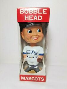 1974-Cleveland-Indians-Baseball-Bobble-Head-Mascot-American-League-New-in-Box