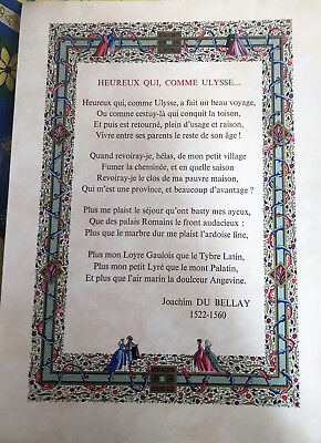 """Lucy BOUCHER /""""poème enluminé/"""" Heureux qui neuf comme Ulysse.."""