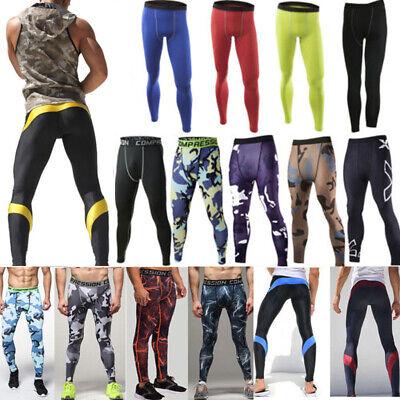 Hivexagon Herren Fitness Hose Kompression Leggings Funktionsw/äsche Pants Strumpfhosen Cool Dry Herren Running Leggings Gym Trainingshose