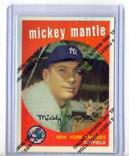 """MICKEY MANTLE 1996 FINEST REPRINT REFRACTOR #9 OF 19 """"1959 TOPPS"""""""