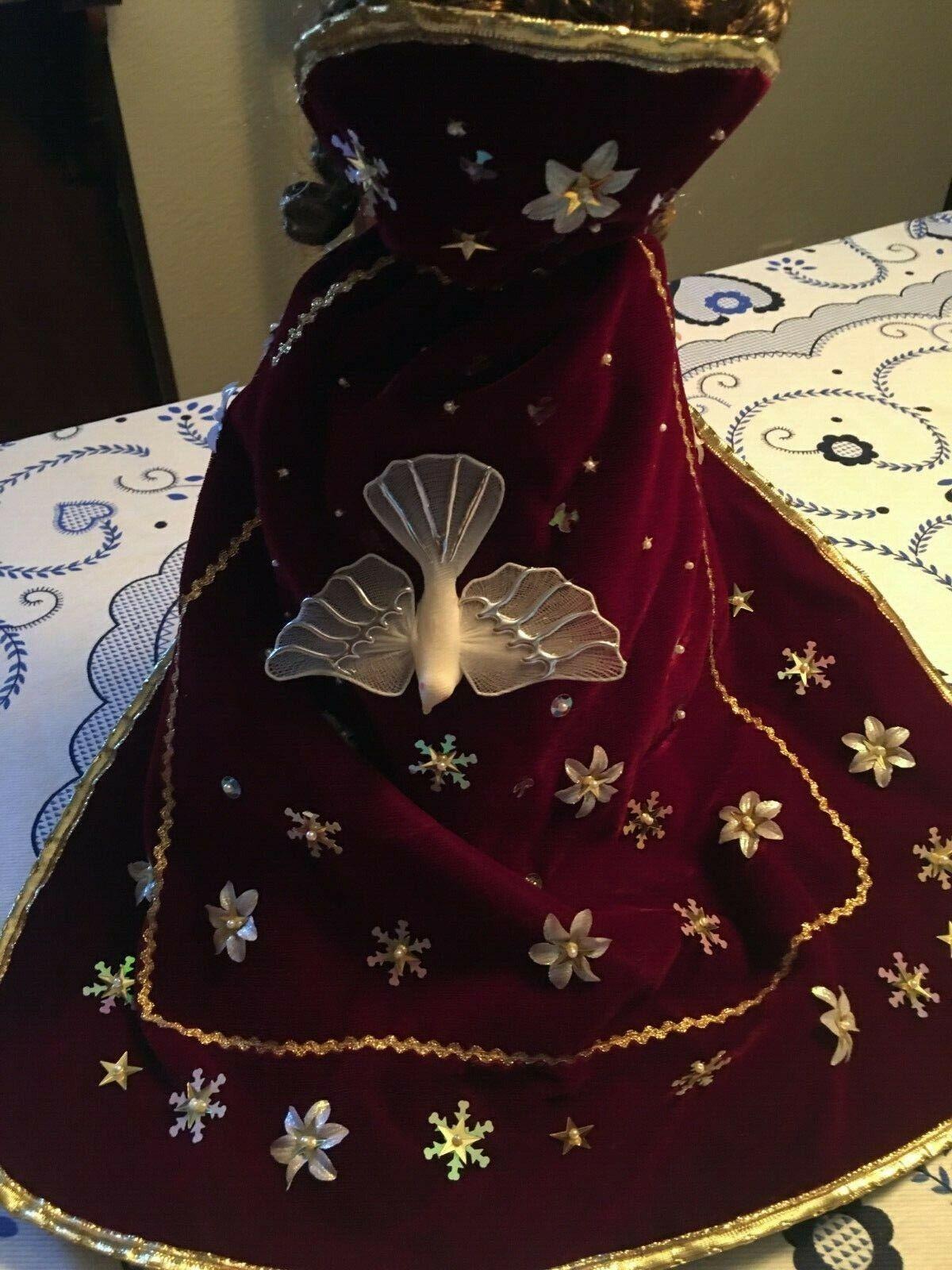 Raro portugués Espíritu Santo Ghost  Reina Muñeco  Festas  hecho a mano Cape