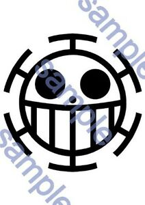 New Temorary Tattoo Seal One Piece Trafalgar Law Cosplay Costume D