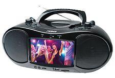 "BRAND NEW NAXA Electronics NDL-257 7"" Bluetooth DVD Boombox & TV"