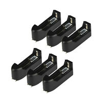 6x Single Battery Charger For Rechargeable 18650 16340 14500 123a Li-ion Battery
