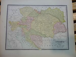 Nice colored map of austria or germany crams atlas of the world image is loading nice colored map of austria or germany cram gumiabroncs Image collections
