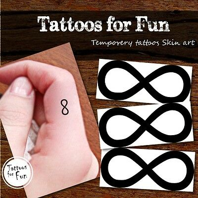 Infinity Temporary Tattoo- Infinity B&W Tattoo- Infinity Symbol Fake Body Tatts