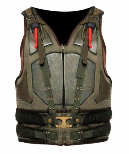 New Men/'s The Dark Knight Rises Movie Comic Synthetic Leather Bane Vest