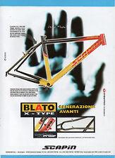 BICMON999-PUBBLICITA'/ADVERTISING-1999- BLATO X-TYPE by SCAPIN
