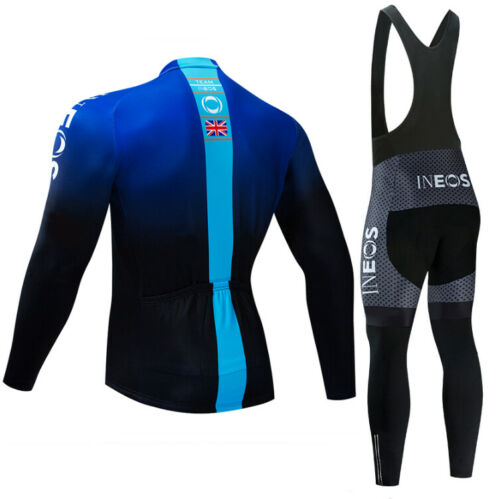 Mens team Cycling long sleeve jersey cycling jerseys and bib pants cycling pants