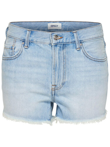 ONLY Damen kurze Jeans Hose onlDIVINE REG SHORTS NOOS Hotpant hellblau loose fit