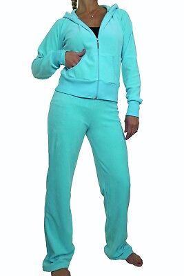 ICE Ladies Hooded Velour Lounge Luxury Track Suit 6-20