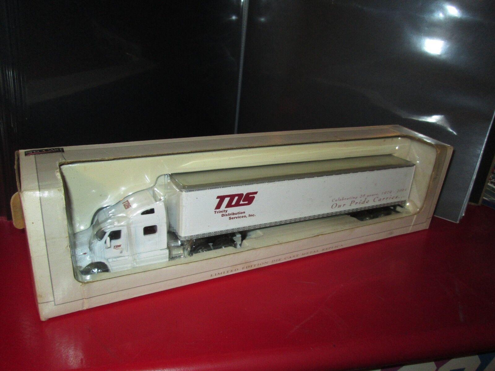 Trinty distribution serv semi tractor peterbilt 387  speccast Van Trailer 1 64