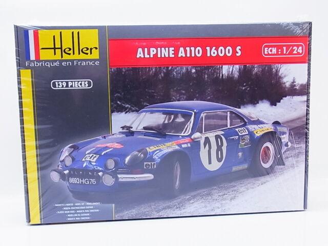 Lot 63967 Heller 80745 Alpine A110 1600 S 1:24 Kit Neuf Emballage D'Origine