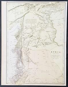 1880-John-Bartholomew-Large-Antique-Map-of-Northern-Syria