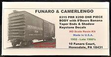 Funaro F&C 8315 PENNSYLVANIA X29D PRR Boxcar  8' Doors BANANA Taper Ends 1-PIECE