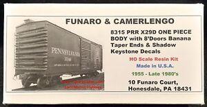 Funaro-F-amp-C-8315-PENNSYLVANIA-X29D-PRR-Boxcar-8-039-Doors-BANANA-Taper-Ends-1-PIECE