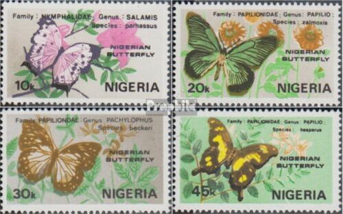 nigeria 400403 complete issue unmounted mint never hinged 1982 Butterflies