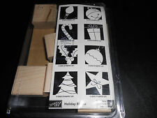 Never used, rare (Holiday Blocks) (Stampin up) collector set in original pack.