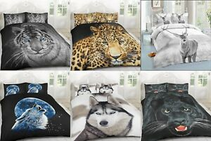 3D-LUXURY-ANIMAL-PRINTED-DUVET-QUILT-BEDDING-COVER-SET-PILLOW-CASES-ALL-SIZES