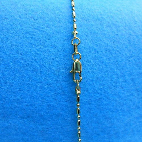 5PCS 16-30inches Wholesale Jewelry 18K GOLD FILLED Column Ball Chains Necklaces