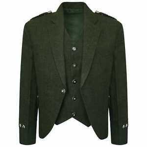 Tweed-Crail-Highland-Kilt-Jacket-and-Waistcoat-Scottish-Green-Wedding-Dress