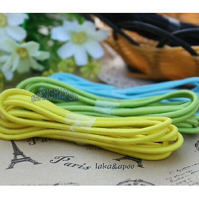 10 Meters 3mm Elastic Cord Bungee Round Hair Bobble Ponios Hairband Sewing Craft