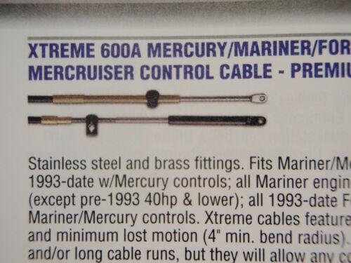 CONTROL CABLES PAIR 14FT 1-CCX17914 MERCURY MERCRUISER MARINER XTREME 14 FOOT