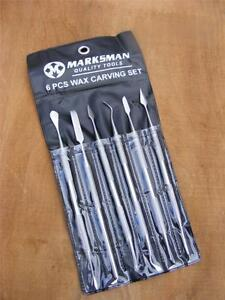 6pc Wax Carving Dental Spatulas Polymer Metal Art Clay Tools Hobby Craft Tools M