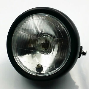 Retro-Motorcycle-Side-Mount-Headlight-Cafe-Racer-Cruiser-CG-GN-125-Custom-New