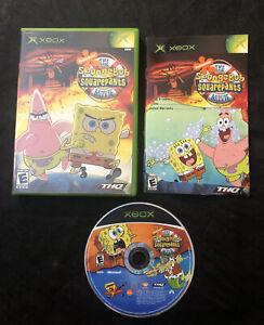 The SpongeBob SquarePants Movie — Complete! Damaged Manual! Microsoft Xbox, 2004