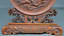 China-Boxwood-wood-Hand-carved-phoenix-bird-Dragon-Loong-statue-Screen-Byobu thumbnail 4