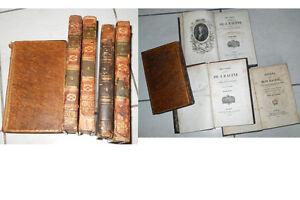 Rare à collectionner ! Oeuvres complètes de RACINE 1827 2ème édition 5 volumes - France - Reliure: Cuir - France