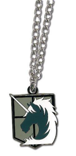 Anime Attack on Titan 104th Cadena Collar Colgante Símbolo Cadete Corps