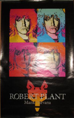 ROBERT PLANT Manic Nirvana Atlantic promo poster 20x32 1990 Led Zeppelin EX