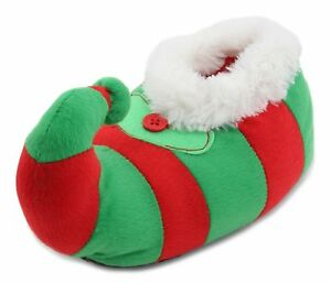 Slumberzzz Kids Plush Novelty 3D Christmas Elf Slippers | eBay