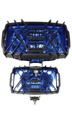 2x Scheinwerfer Fernscheinwerfer 220x123x120 12V 24V Blau Chrom Halogen SET