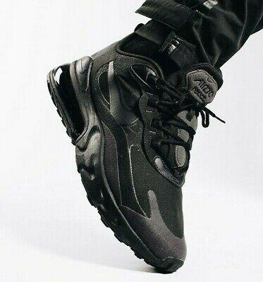 Nike Air Max 270 Triplo Nero ReactOlio Grigio TG 5 14UK AO4971 003 | eBay