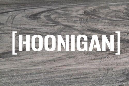 Hoonigan Sticker Decal Vinyl Car JDM EDM Bumper Window Drift Funny Low Turbo