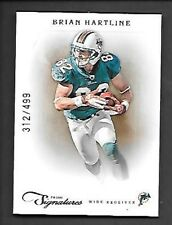 BRIAN HARTLINE   2012 PRIME SIGNATURES #24  SERIAL #312/499    FREE COMBINED S/H