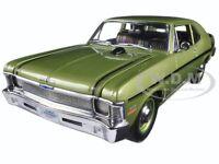 1970 Chevrolet Nova Yenko Deuce Citrus Green Ed 600pcs 1/18 Car By Gmp 18831