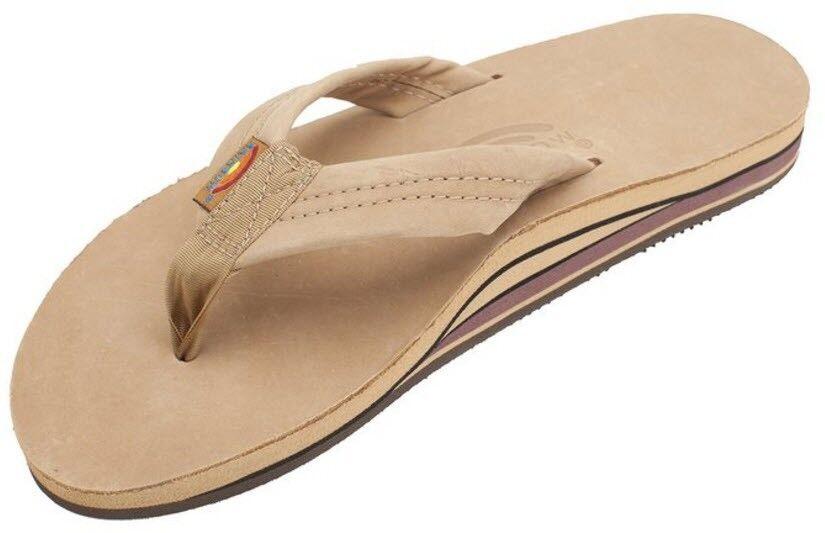 Men Rainbow Double Layer Arch 302ALTS0 Premier Leather Sierra Brown 100%Authentc