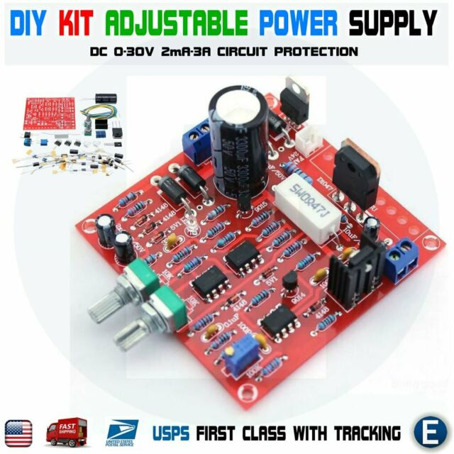 DIY DC 0-30V 2mA-3A Adjustable DC Regulated Power Supply Module KIT
