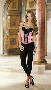 Shirley of Hollywood Corset-Zebra Hot Pink