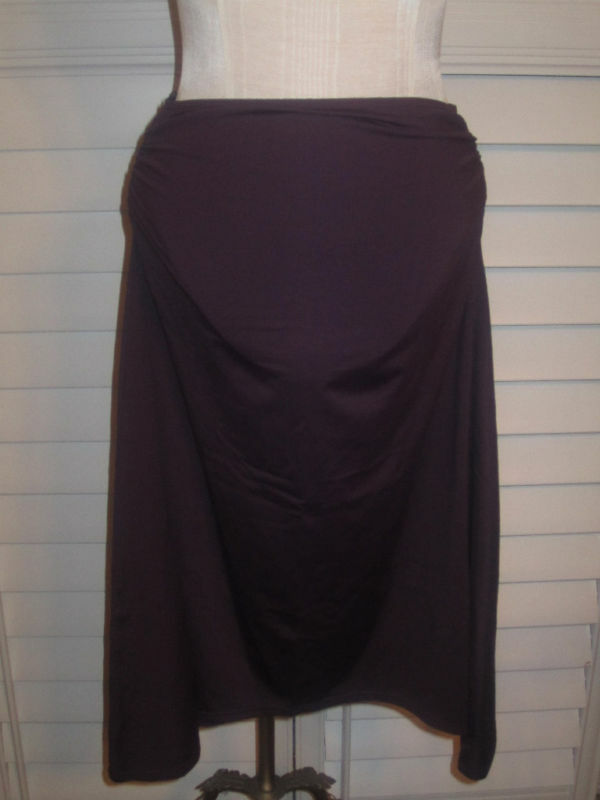 Seafolly Ruched Skirt in Deep Purple
